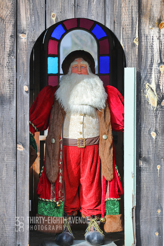 Santa in a Shed